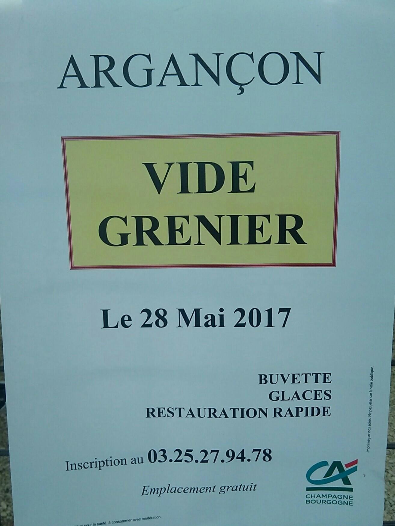 Vide Grenier Argan On Sortir Dans L 39 Aube