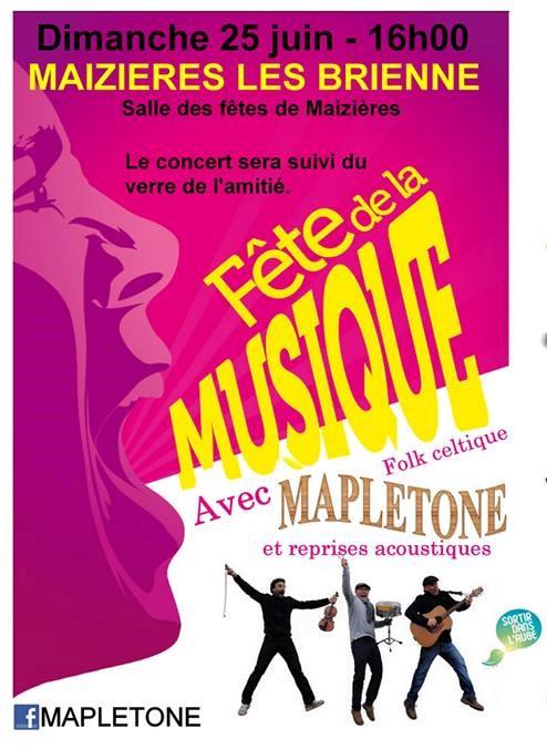 F te de la musique avec mapletone sortir dans l 39 aube - Fete de la musique 2017 date ...