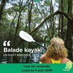 Sorties kayak avec la guide nature