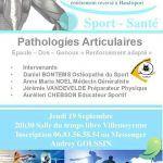 """Conférence Sport Santé """"Pathologies Articulaires"""""""