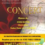 Concerts de l'ensemble vocal Cantilege