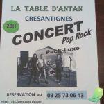 Soirée Paëlla avec concert de Pack Luxe