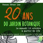 20 ans Jardin Botanique