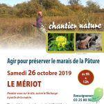 """Chantier nature: """"Agir pour préserver le Marais de la Pâture de Beaulieu"""""""