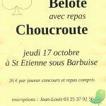 Concours de Belote avec Repas Choucroute