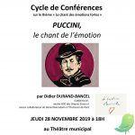 Conférence: Puccini, le chant de l'émotion