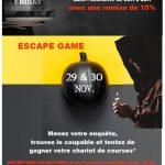 Cluedo géant version escape game chez persil et ciboulette