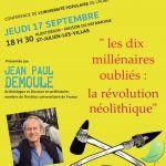 Conférence: les dix millénaires oubliés : la révolution néolithique