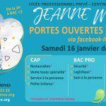 Portes ouvertes virtuelles Lycée Professionnel Jeanne Mance
