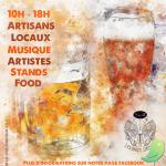 Marché d'été local: Art, Musique, Food