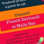 Franck Derivault et Melle Sao en concert
