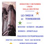 Concert de Noël: le Chœur Tonnerrois