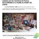 Vente de Patchworks, Broderies, petits objets au profit de PARTAGE/AUBE