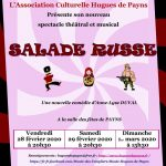 """Spectacle Théâtral et Musical """"Salade Russe"""""""