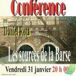 Conférence: les sources de la Barse