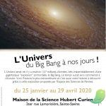 Exposition: l'univers du Big Bang à nos jours