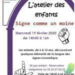 """Atelier des Enfants """"Signe comme un moine"""