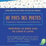 Atelier de lecture active de poésie