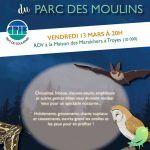 La vie nocturne du parc des Moulins