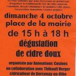 DÉGUSTATION DE CIDRE DOUX
