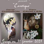 """EXPOSITION """"CANTIQUE"""" sculpture et peinture de Daniel Chanson et Piero Cavalleri"""