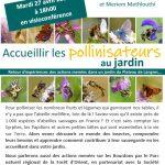 "Visioconférence ""accueillir les pollinisateurs au jardin"""