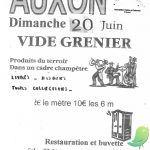 Vide grenier Auxon