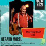 Concert : Gérard Morel et la guitare qui l'accompagne