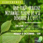 Conférence:  Une forêt urbaine Miyawaki pleine de vie démarre à l'UTT
