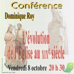 Conférence:  L'évolution de l'Église au XIXe siècle