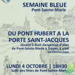 Conférence sur l'histoire du Pont Hubert à la Porte Saint-Jacques